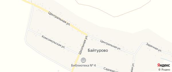 Центральная улица на карте деревни Байтурово с номерами домов
