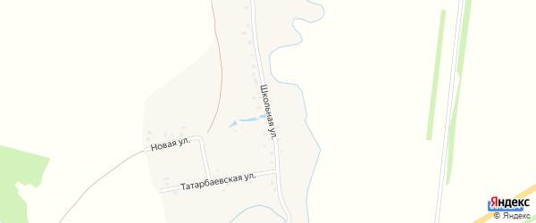 Школьная улица на карте деревни Рефанд с номерами домов