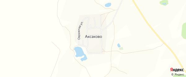 Карта деревни Аксаково в Башкортостане с улицами и номерами домов