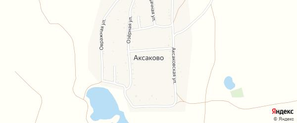 Дачная 1-я улица на карте деревни Аксаково с номерами домов