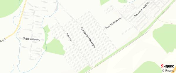 СНТ Ромашка на карте Уфы с номерами домов