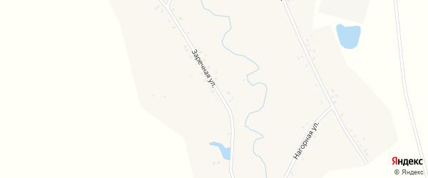 Заречная улица на карте Новотроицкого села с номерами домов