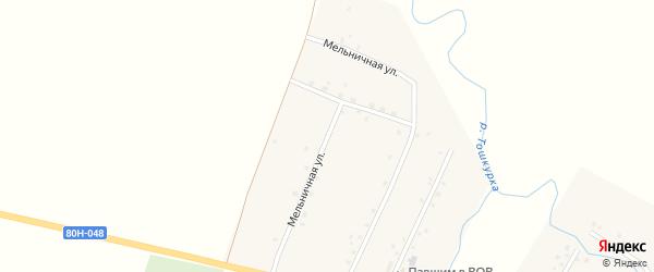 Мельничная улица на карте деревни Маты с номерами домов
