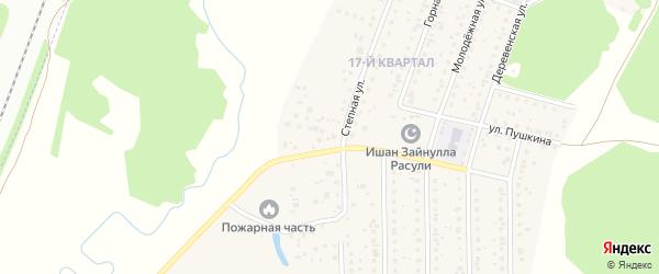 Ключевая улица на карте деревни Шамонино с номерами домов