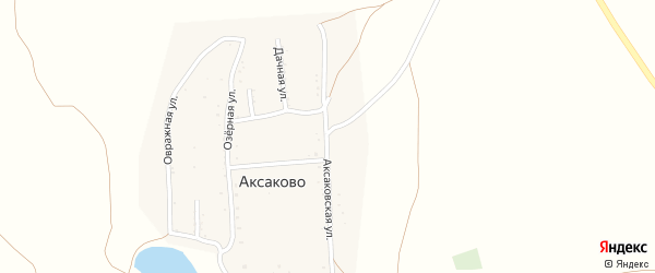 Аксаковская улица на карте деревни Аксаково с номерами домов
