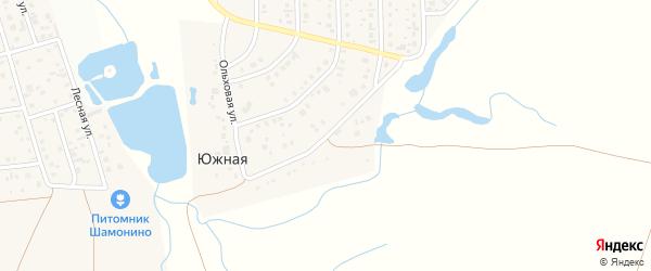 Ольховая улица на карте Южной деревни с номерами домов