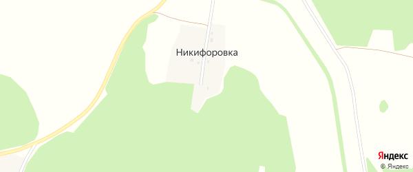 Дачная улица на карте деревни Никифоровки с номерами домов