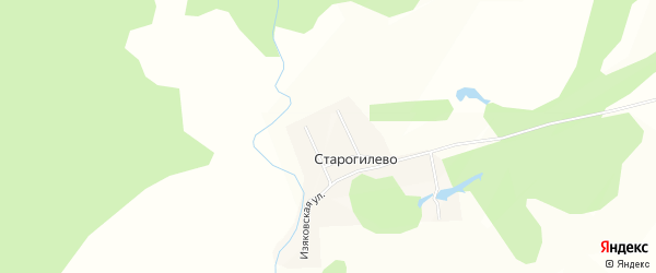 Карта деревни Старогилево в Башкортостане с улицами и номерами домов