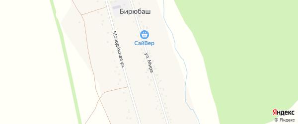 Улица Мира на карте деревни Терекеево с номерами домов