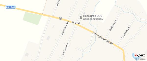 Улица Ленина на карте деревни Маты с номерами домов