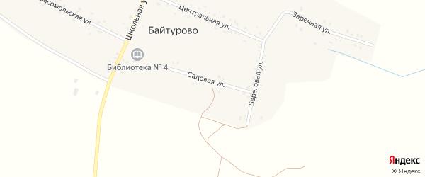 Садовая улица на карте деревни Байтурово с номерами домов