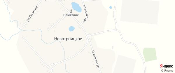 Советская улица на карте Новотроицкого села с номерами домов