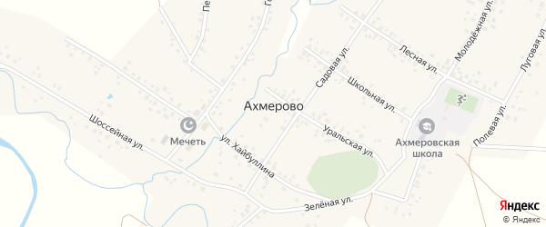 Улица Цайгановка на карте села Ахмерово с номерами домов
