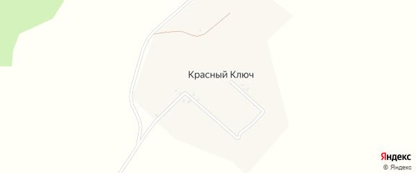 Ключевая улица на карте деревни Красного Ключа с номерами домов