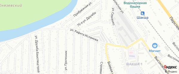 Улица Рафита Исламова на карте Уфы с номерами домов