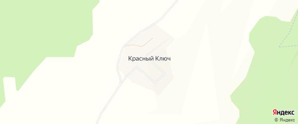 Карта деревни Красного Ключа в Башкортостане с улицами и номерами домов