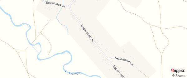 Береговая улица на карте села Ахмерово с номерами домов