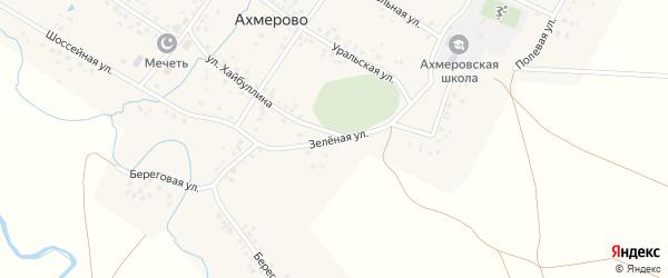 Зеленая улица на карте села Ахмерово с номерами домов