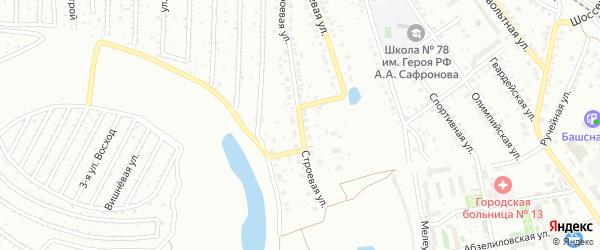 Строевая улица на карте Уфы с номерами домов