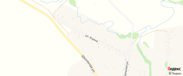 Улица Азина на карте села Старые Казанчи с номерами домов