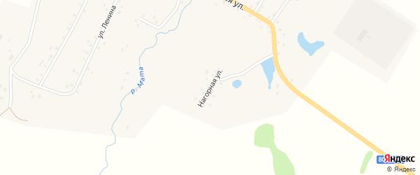 Нагорная улица на карте деревни Маты с номерами домов