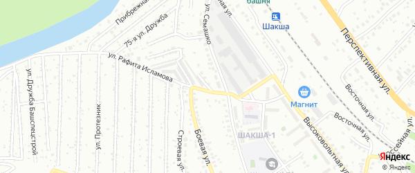 Боевая улица на карте Уфы с номерами домов