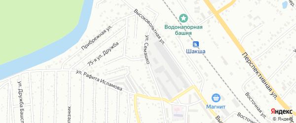 Улица Семашко на карте Уфы с номерами домов