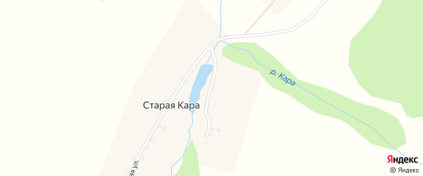 Центральная улица на карте деревни Старой Кары с номерами домов
