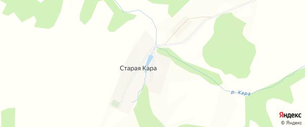Карта деревни Старой Кары в Башкортостане с улицами и номерами домов