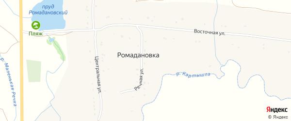 Речная улица на карте села Ромадановки с номерами домов