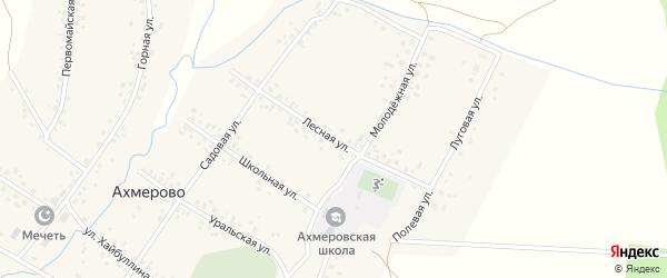 Лесная улица на карте села Ахмерово с номерами домов