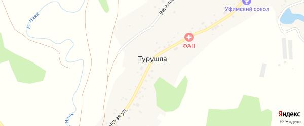 Школьная улица на карте деревни Турушлы с номерами домов