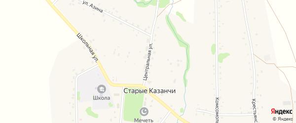 Центральная улица на карте села Старые Казанчи с номерами домов