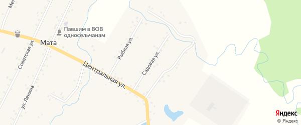Садовая улица на карте деревни Маты с номерами домов