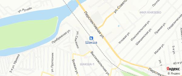 СТ Шакша на карте Уфы с номерами домов