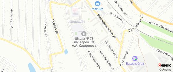 Яблоневая улица на карте Уфы с номерами домов