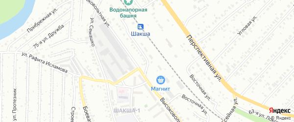 Восточная улица на карте Уфы с номерами домов