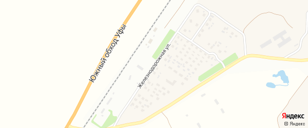Железнодорожная улица на карте села Русского Юрмаша с номерами домов