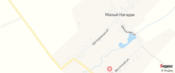 Железнодорожная улица на карте деревни Нагадака с номерами домов