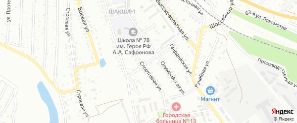 Солдатская улица на карте Уфы с номерами домов