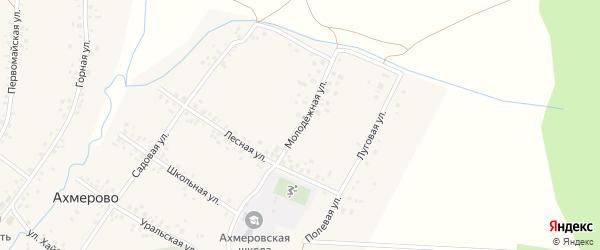 Молодежная улица на карте села Ахмерово с номерами домов
