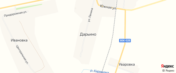 Карта деревни Дарьино в Башкортостане с улицами и номерами домов