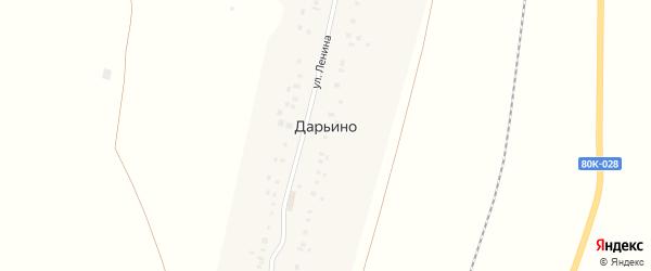 Южная улица на карте деревни Дарьино с номерами домов