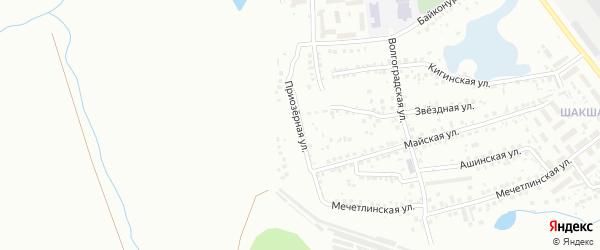 Приозерная улица на карте Уфы с номерами домов