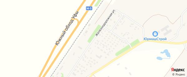 Железнодорожная улица на карте станции Юрмаша с номерами домов