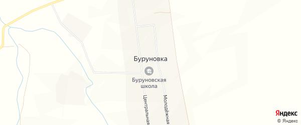 Карта села Буруновки в Башкортостане с улицами и номерами домов