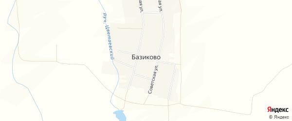 Карта деревни Базиково в Башкортостане с улицами и номерами домов