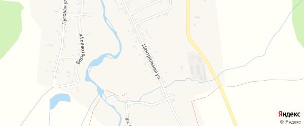 Центральная улица на карте села Салихово с номерами домов