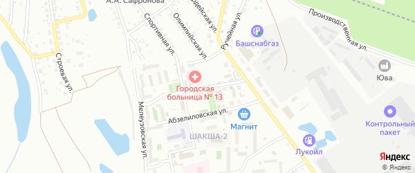 Улица Зеленая Дубрава на карте Уфы с номерами домов