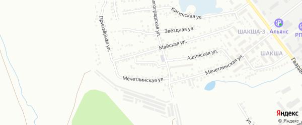 Майский переулок на карте Уфы с номерами домов
